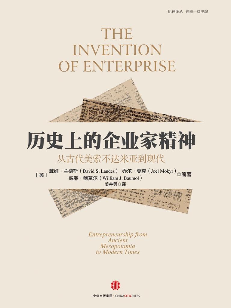 历史上的企业家精神:从古代美索不达米亚到现代(比较译丛系列)