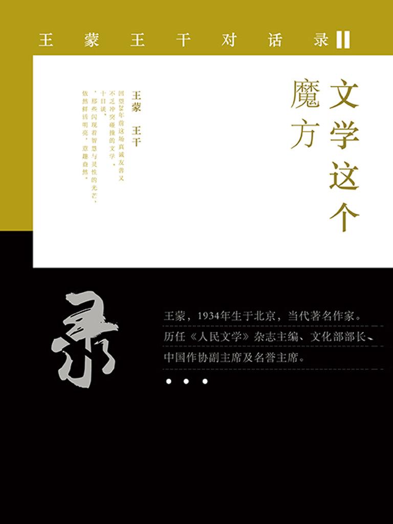 文学这个魔方:王蒙王干对话录