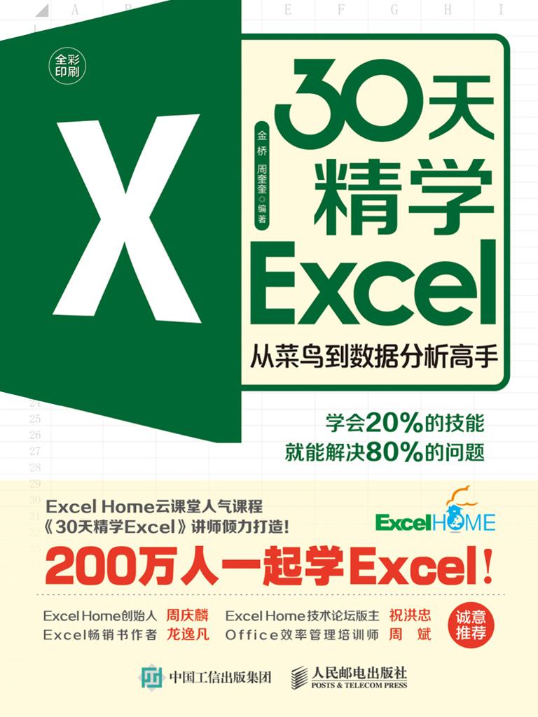 30天精学Excel:从菜鸟到数据分析高手