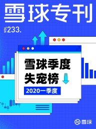 雪球專刊·雪球季度失寵榜 2020年一季度(第233期)