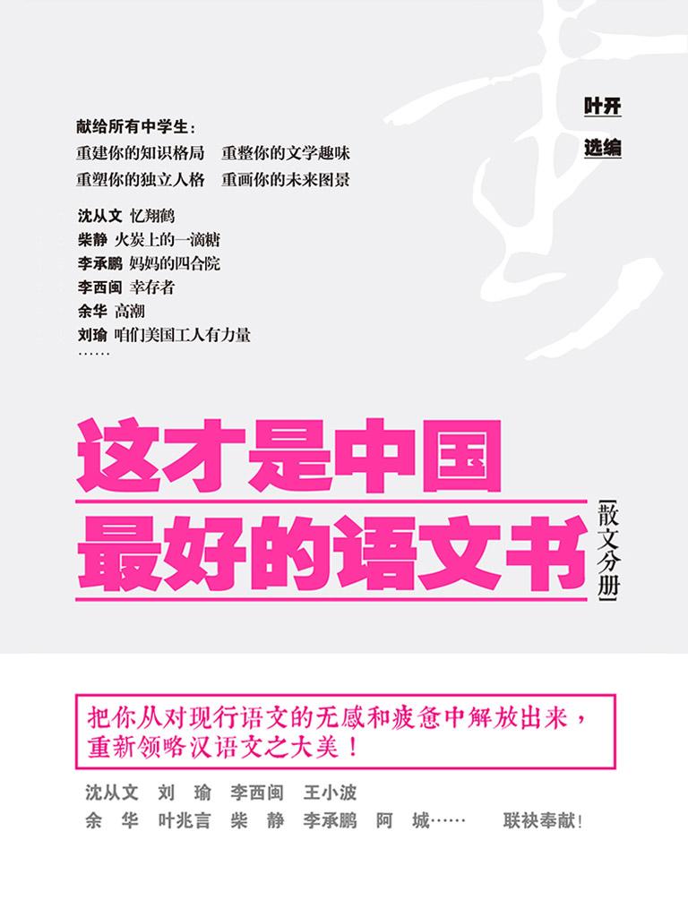 这才是中国最好的语文书(散文分册)